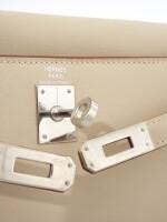 Parchemin leather and palladium hardware handbag, Kelly Danse, Hermès, 2007
