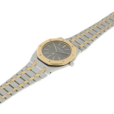 View 6. Thumbnail of Lot 11. REFERENCE 5402 JUMBO ROYAL OAK A YELLOW GOLD AND STAINLESS STEEL AUTOMATIC WRISTWATCH WITH DATE AND BRACELET, CIRCA 1975  .