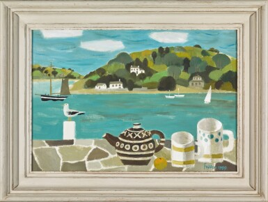View 2. Thumbnail of Lot 111. MARY FEDDEN, R.A.   STILL LIFE WITH ESTUARY.