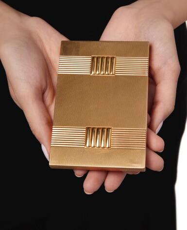 View 2. Thumbnail of Lot 501. GOLD AND SAPPHIRE CIGARETTE CASE, VAN CLEEF & ARPELS, FRANCE | 黃金鑲藍寶石煙盒,梵克雅寶.