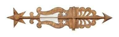 View 2. Thumbnail of Lot 321. American Sheet Metal Banner Weathervane, 19th century.