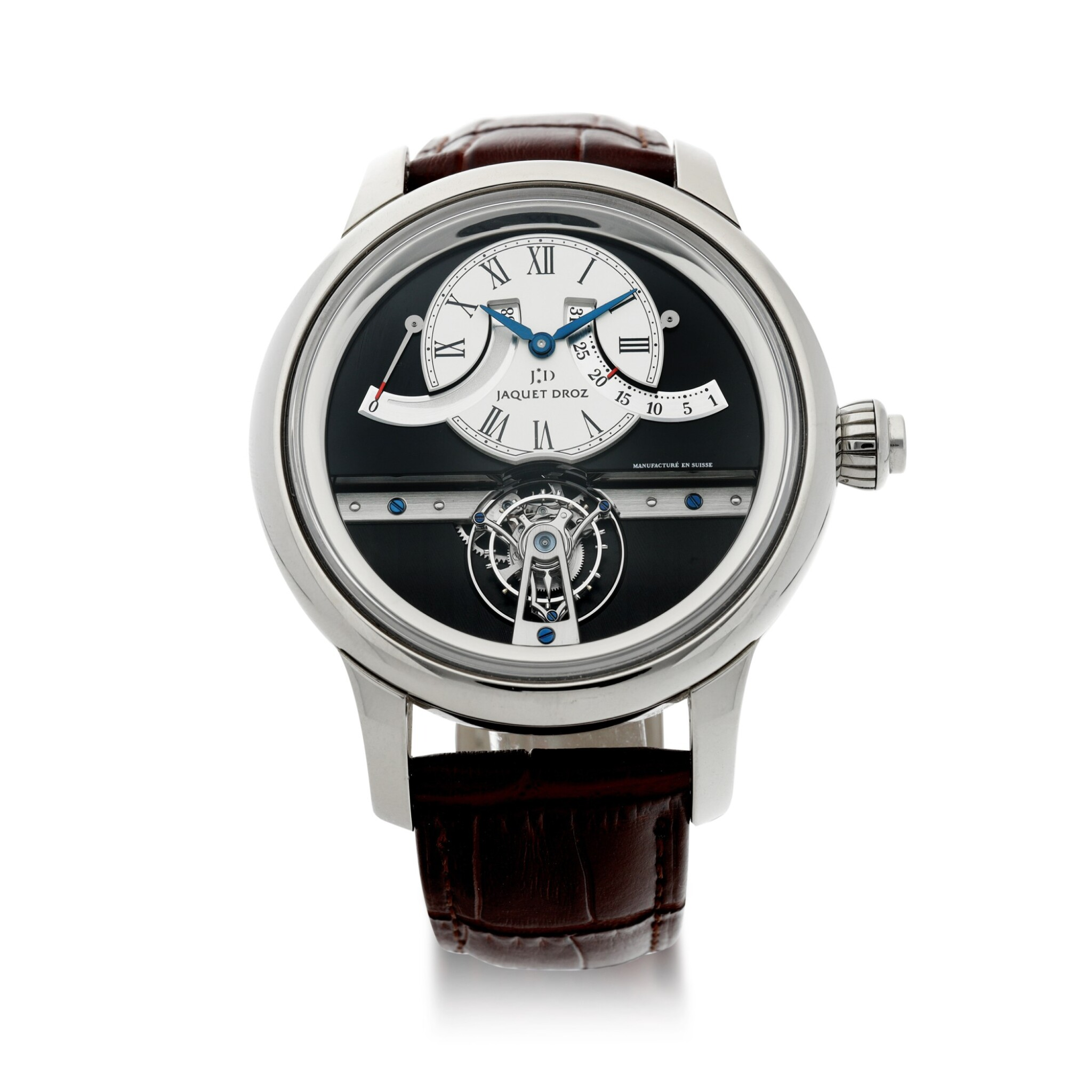 View full screen - View 1 of Lot 183. REFERENCE J028034201 GRANDE SECONDE TOURBILLON A LIMITED EDITION WHITE GOLD TOURBILLON WRISTWATCH WITH RETROGRADE DATE AND POWER RESERVE INDICATION, MADE IN 2009.