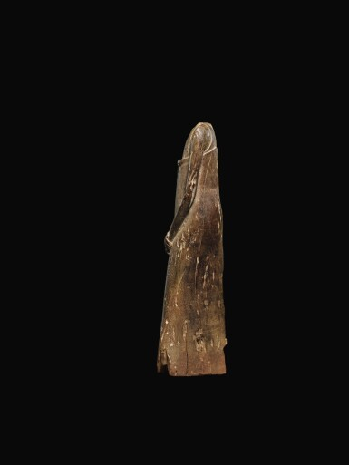 View 4. Thumbnail of Lot 65. AN EGYPTIAN WOOD FIGURE OF A MAN, SECOND PERSIAN PERIOD, 342-332 B.C..
