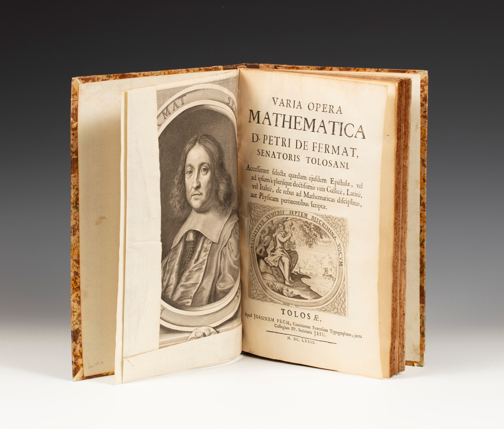 View full screen - View 1 of Lot 104. Varia opera mathematica. Toulouse,1679. Petit in-folio. Edition originale. De la bibliothèque de Jacques Lacan..