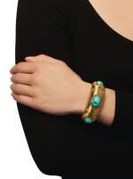 GOLD AND TURQUOISE CUFF-BRACELET, BUCCELLATI