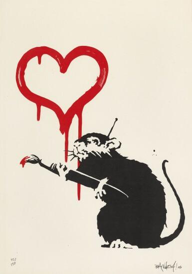 View 1. Thumbnail of Lot 15. BANKSY | LOVE RAT.