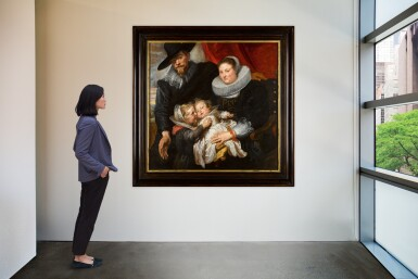 View 4. Thumbnail of Lot 14. Family portrait of the painter Cornelis de Vos and his wife Suzanna Cock and their two eldest children, Magdalena and Jan-Baptist   《畫家科尼利厄斯・德・沃斯、其妻蘇珊娜・考克與長子女馬格達萊納和揚・巴普蒂斯的全家福》.