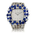 IWC | WHITE GOLD LAPIS LAZULI AND DIAMOND-SET BRACELET WATCH CIRCA 1971