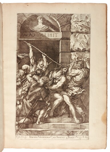 View 1. Thumbnail of Lot 267. Titian and Paolo Veronese, Opera selectiora... [Venice], 1682, contemporary vellum.