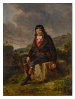 Portrait of Louis-Marie de la Révellière-Lépeaux, seated in a landscape