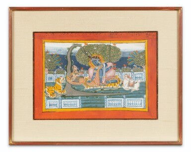 View 10. Thumbnail of Lot 69. RAJASTHAN, LATE 18TH CENTURY AND 19TH CENTURY | SEVEN INDIAN MINIATURES.