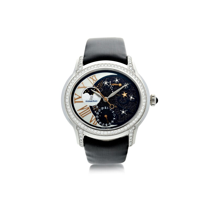 Millenary Starlit Sky. Reference 77315BC.ZZ.D007SU.01. A White Gold and Diamond-Set Lady's Automatic Wristwatch