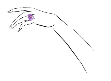View 4. Thumbnail of Lot 27. MICHELE DELLA VALLE | AMETHYST, RUBY AND DIAMOND RING.