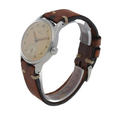 View 2. Thumbnail of Lot 430. REF 2383-6 STAINLESS STEEL WRISTWATCH WITH TWO-TONE DIAL CIRCA 1947.