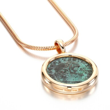 View 1. Thumbnail of Lot 27. Coin necklace, 'Monete'.