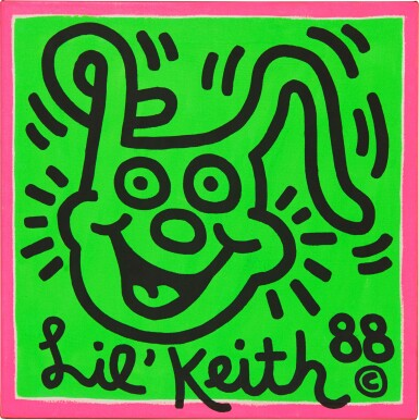View 1. Thumbnail of Lot 568. Keith Haring 凱斯・哈林 | Untitled (Lil Keith) 無題(小凱斯).