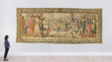 View 4. Thumbnail of Lot 17. A Triumph Classical Tapestry, Northern Netherlands,  third quarter 17th century .