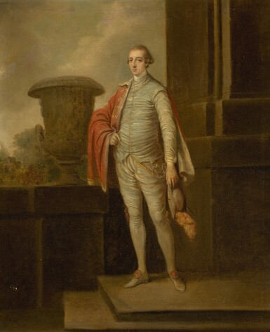 View 2. Thumbnail of Lot 54. ROBERT HUNTER | PORTRAIT OF JOSEPH LEESON, LATER 2ND EARL OF MILLTOWN (1730-1801), FULL-LENGTH, STANDING BY A CLASSICAL URN, A LANDSCAPE BEYOND.