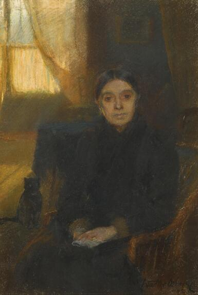 WALTER FREDERICK OSBORNE, R.H.A | PORTRAIT OF ANNIE JANE OSBORNE, THE ARTIST'S MOTHER