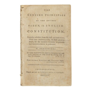 View 3. Thumbnail of Lot 133. The Declaration of Independence | The first book-form printing of the Declaration of Independence.
