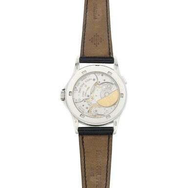 View 5. Thumbnail of Lot 58. REFERENCE 5110P-001 A PLATINUM AUTOMATIC WORLD TIME WRISTWATCH, CIRCA 2002.