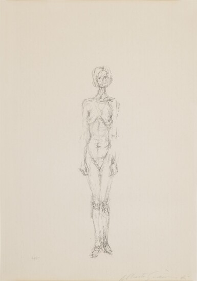 View 1. Thumbnail of Lot 63. Standing Nude II (Lust 36).