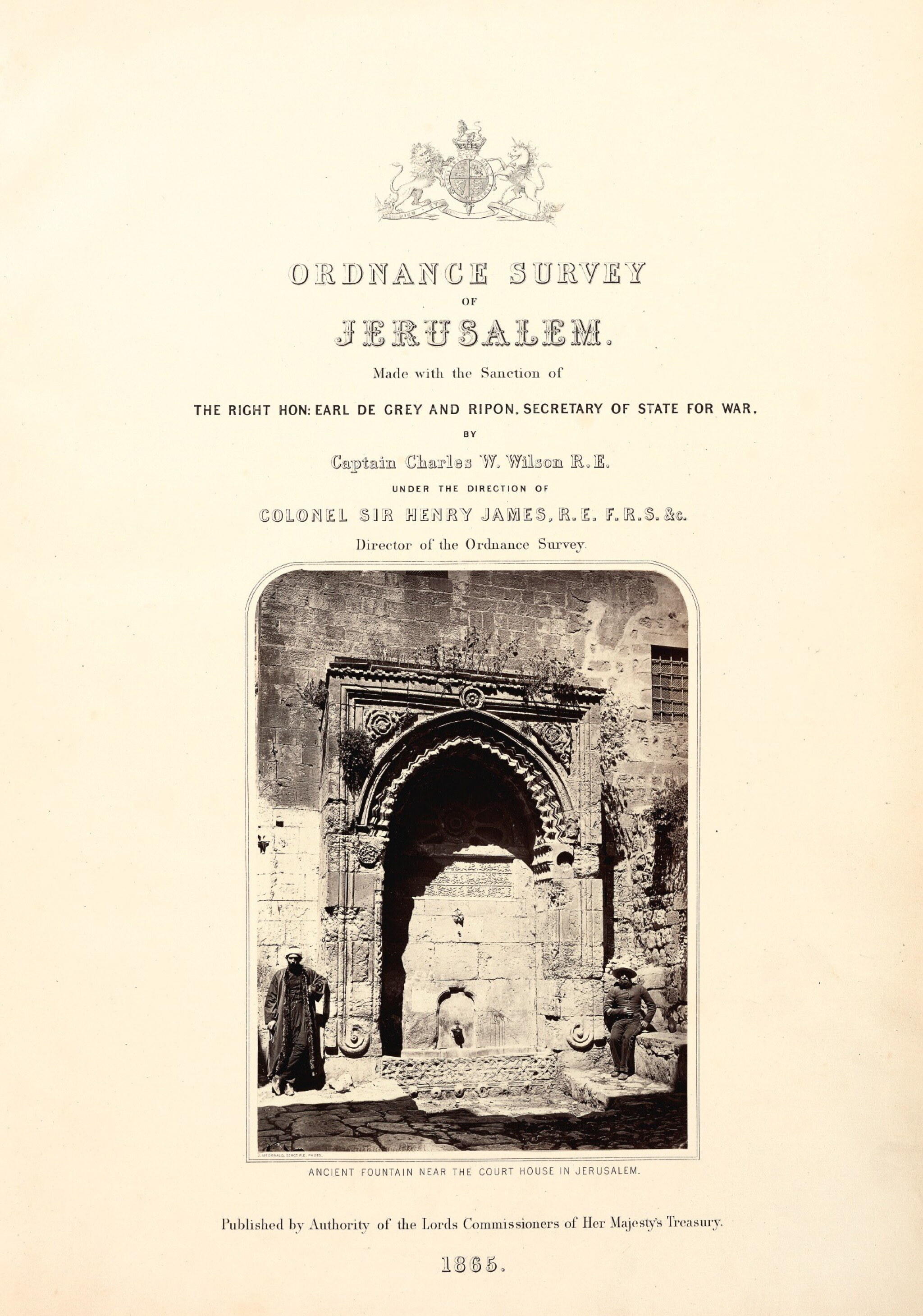Wilson. Ordnance Survey of Jerusalem.1865, 3 volumes, folio
