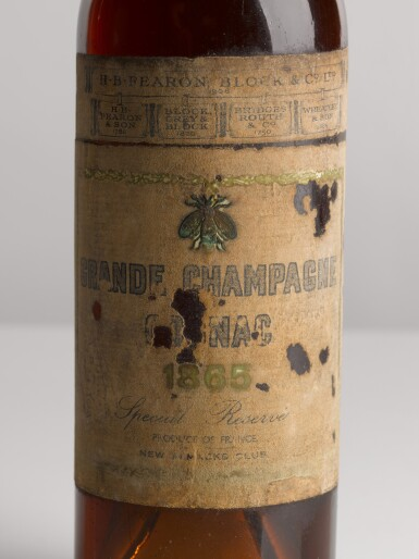 View 2. Thumbnail of Lot 3. COGNAC GRANDE CHAMPAGNE, SPECIAL RESERVE 1865.