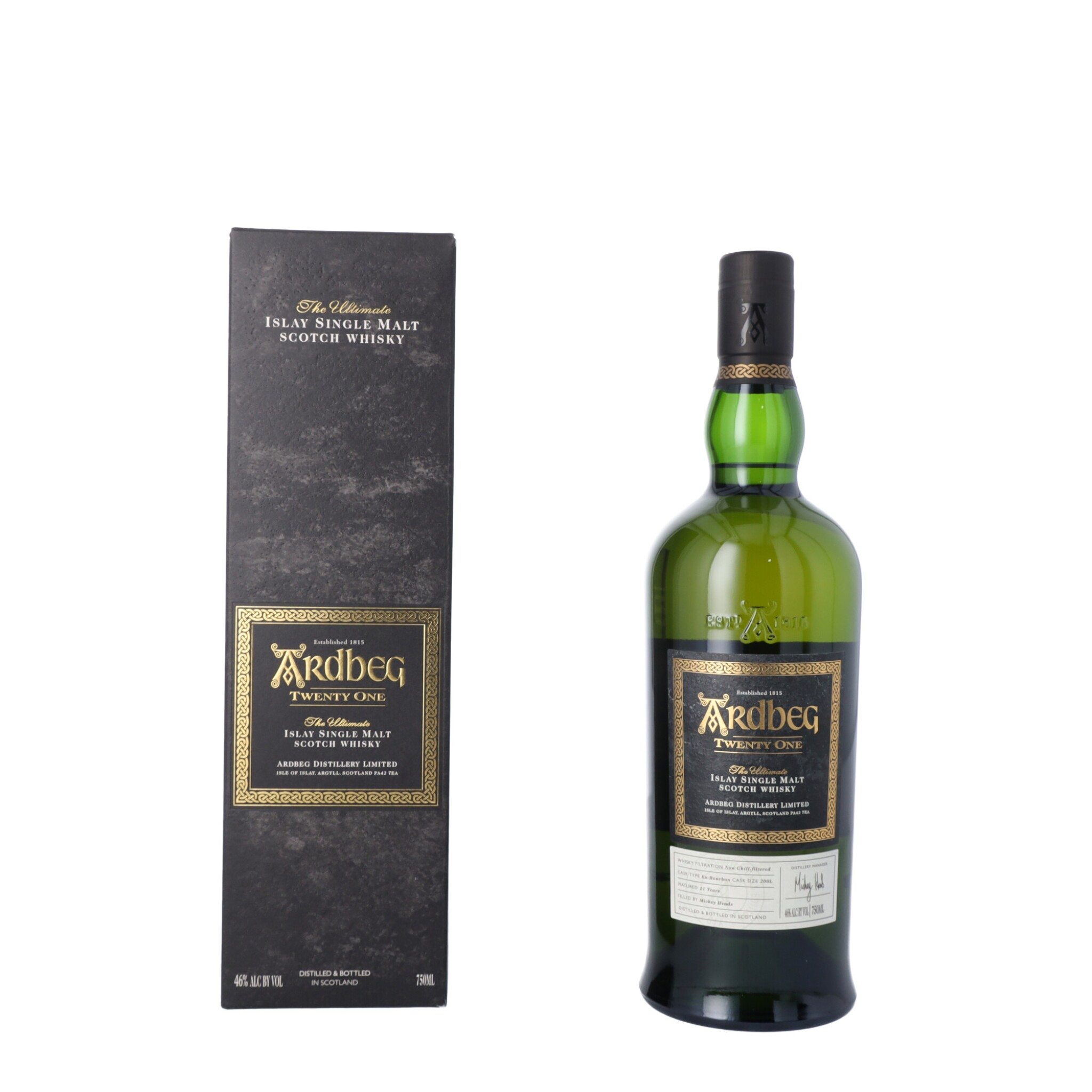 View full screen - View 1 of Lot 62. Ardbeg 21 Year Old 46.0 abv NV (1 BT75).