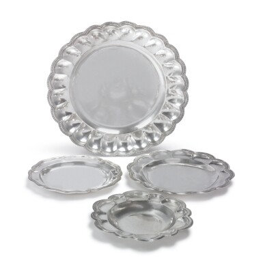 FOUR GUATEMALAN SILVER DISHES, LATE 18TH CENTURY