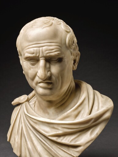 View 4. Thumbnail of Lot 105. ITALIAN, CIRCA 1800, AFTER THE ANTIQUE   BUST OF MARCUS TULLIUS CICERO (106-43 BCE).