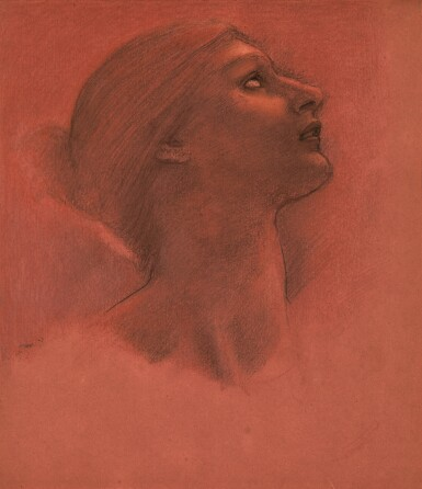 SIR EDWARD COLEY BURNE-JONES, BT., A.R.A., R.W.S. | STUDY FOR THE HEAD OF HOPE