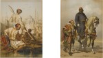 Figures by a River and On Horseback: Plates 11 & 21