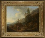 JAN WILS | SOUTHERN MOUNTAIN LANDSCAPE WITH TALL PINES