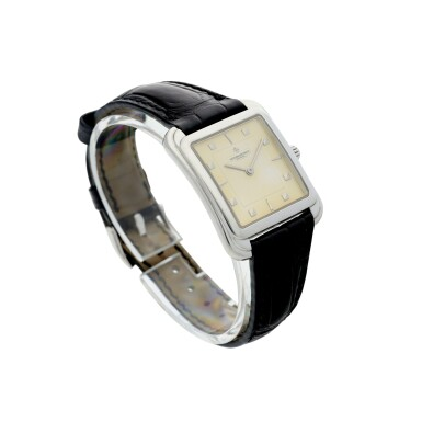 View 3. Thumbnail of Lot 53. REFERENCE 31100 TOLEDO A PLATINUM SQUARE SHAPED WRISTWATCH, CIRCA 1993.