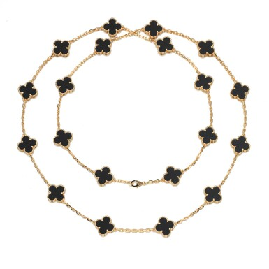 View 1. Thumbnail of Lot 144. Onyx necklace, 'Alhambra'.