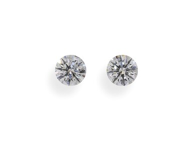 A Pair of 0.51 and 0.50 Carat Round Diamonds, E Color, SI2 Clarity