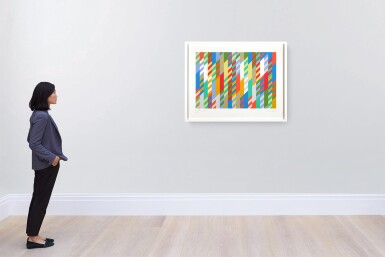 View 4. Thumbnail of Lot 210. BRIDGET RILEY | 1ST STUDY FOR PAINTING.