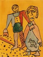 Homme et femme à l'oiseau