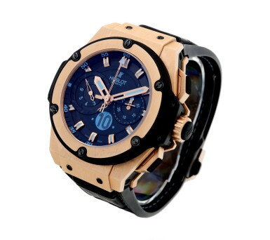 View 3. Thumbnail of Lot 1. Piece Unique King Power 'Diego Maradona' A unique pink gold and titanium automatic chronograph wristwatch with high frequency oscillations, Circa 2012.