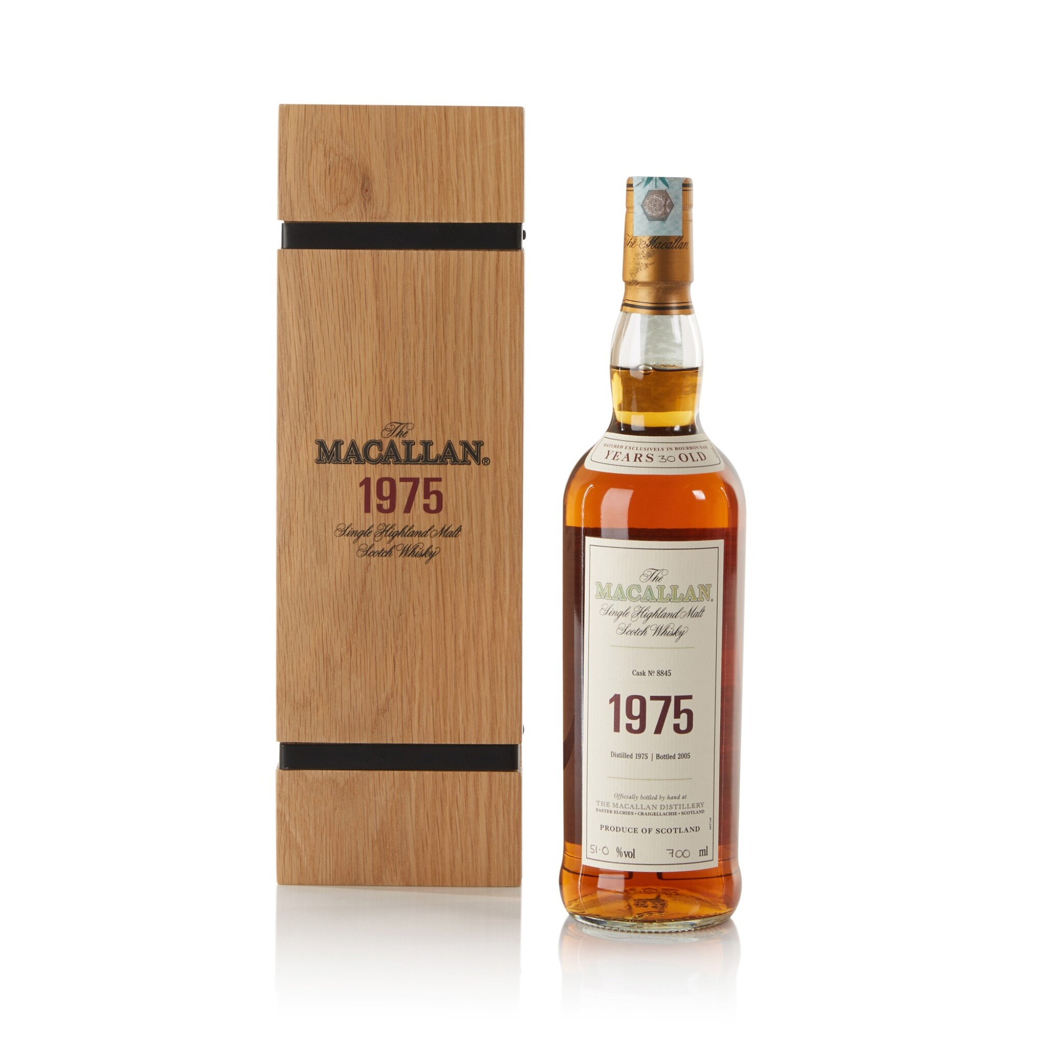 View full screen - View 1 of Lot 6. The Macallan Fine & Rare 30 Year Old 51.0 abv 1975 .
