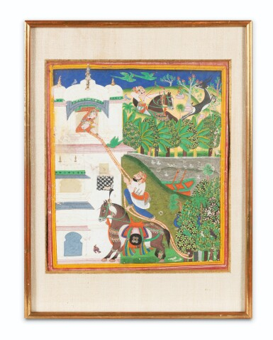 View 6. Thumbnail of Lot 36. INDIA, RAJASTHAN, PAHARI, LATE 18TH CENTURY AND 19TH CENTURY | FIVE INDIAN MINIATURES .