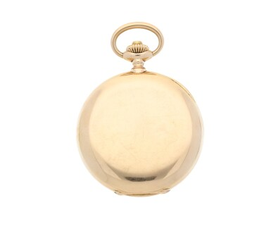 View 2. Thumbnail of Lot 35. PATEK PHILIPPE |  A PINK GOLD HUNTING CASED WATCH, MADE IN 1902.