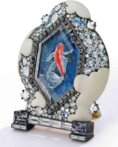 David Michael | Gem-Set and Diamond 'Koi Pond' Brooch [寶石配鑽石「Koi Pond」別針]