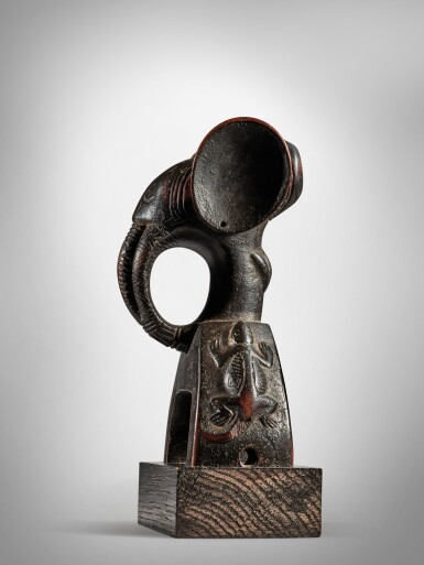 View 3. Thumbnail of Lot 43. Guro Elephant Heddle Pulley, Côte d'Ivoire.