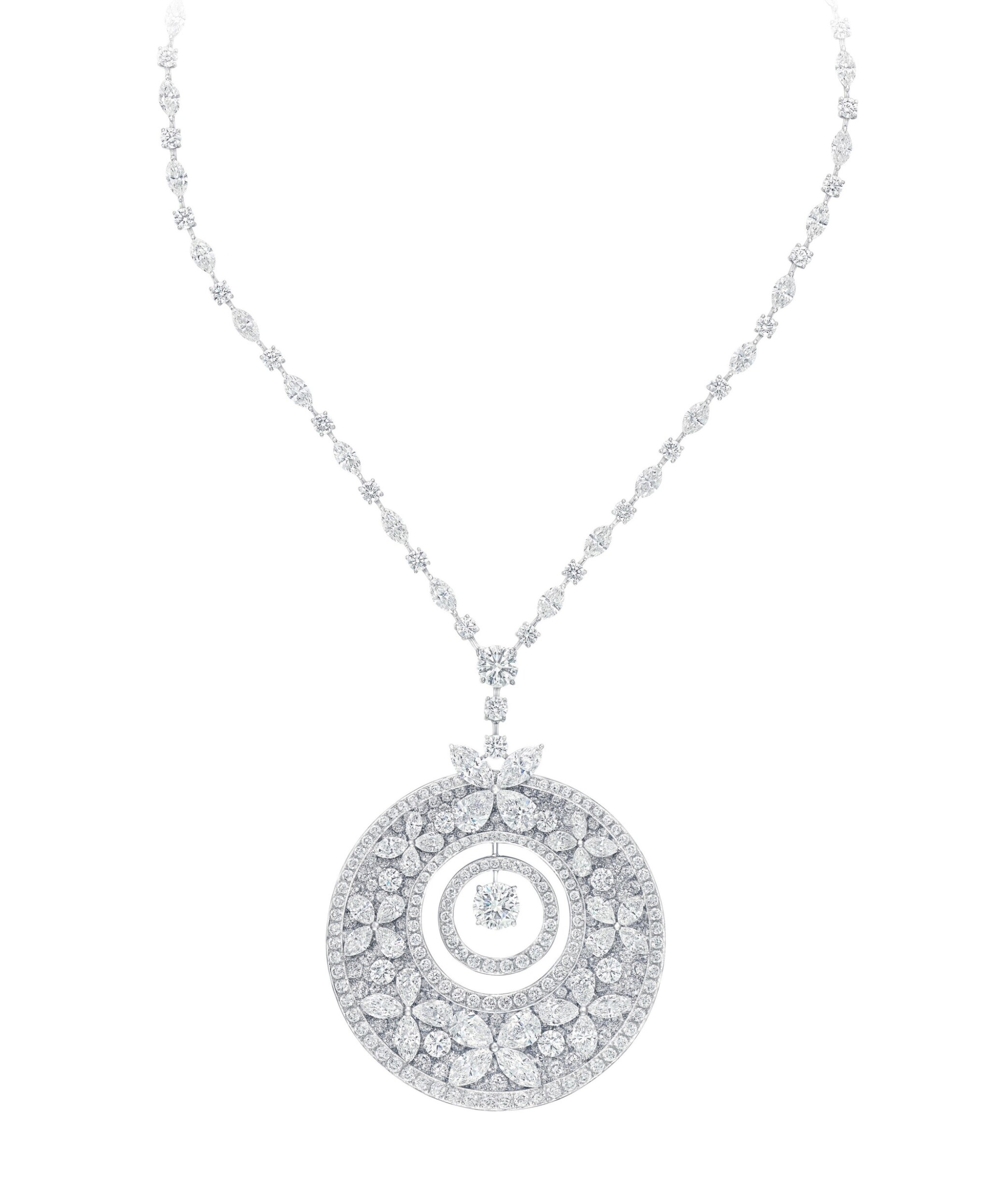View full screen - View 1 of Lot 68. GRAFF   DIAMOND PENDANT-NECKLACE.
