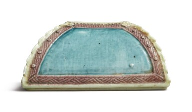 View 4. Thumbnail of Lot 1127. A SQUARE-SECTION TURQUOISE AND AUBERGINE-GLAZED WATERPOT, QING DYNASTY, 19TH CENTURY.