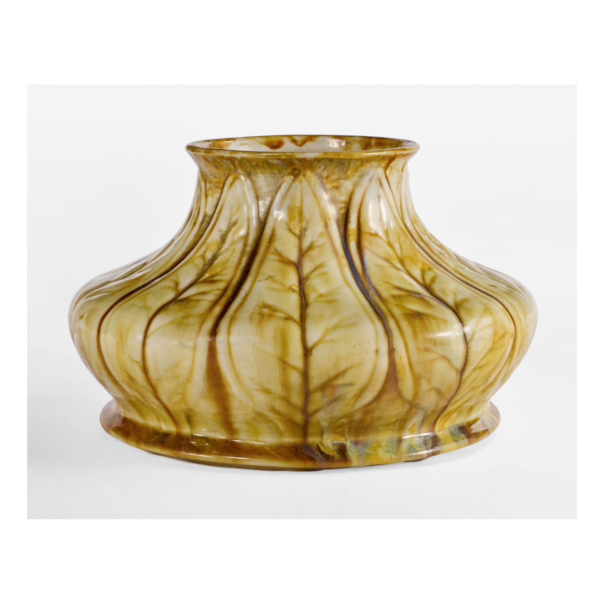 TIFFANY STUDIOS | POTTERY VASE FROM THE COLLECTION OF LOUIS COMFORT TIFFANY