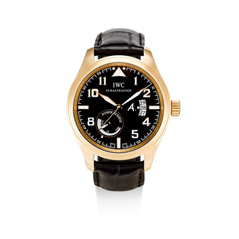 Pilot Antoine De Saint Exupery, Reference IW3201-03  A Limited Edition Pink Gold Wristwatch With Date And Power Reserve Indication, Circa 2007
