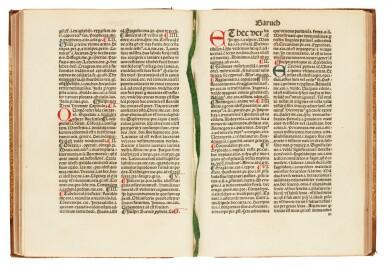 View 2. Thumbnail of Lot 176. Marchesinus, Mammotrectus, Venice, 1482, later half calf.